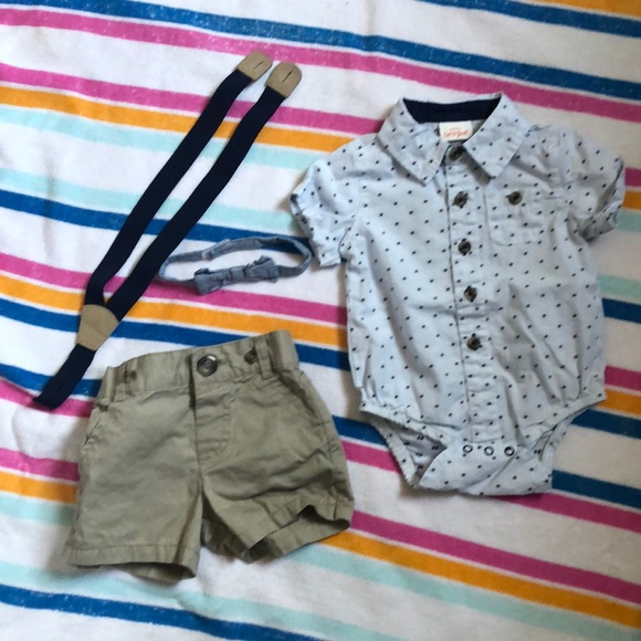 Cat & Jack Other - Dress shirt and shorts